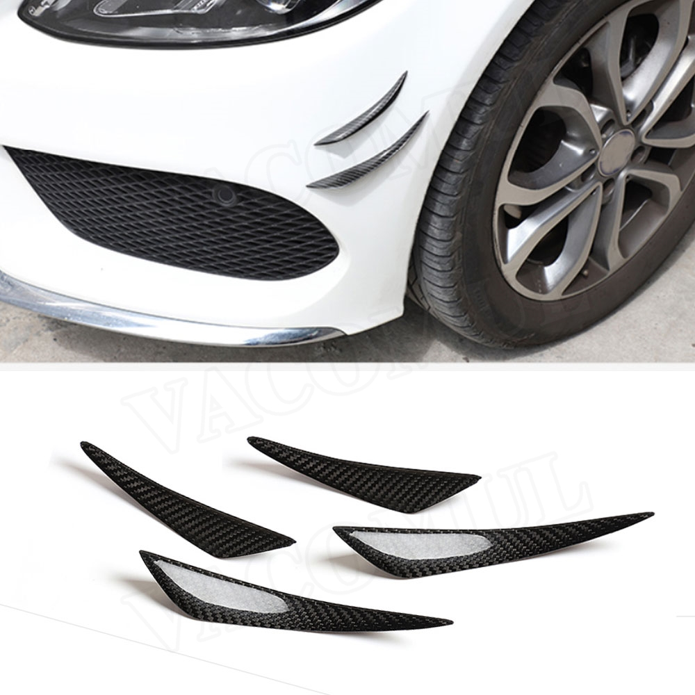 Universal Car Front <font><b>Bumper</b></font> Trunk <font><b>Trim</b></font> Stickers Air Knife Winglet For Ford For <font><b>BMW</b></font> F30 <font><b>F10</b></font> G30 For Benz Car Spoiler Canards image