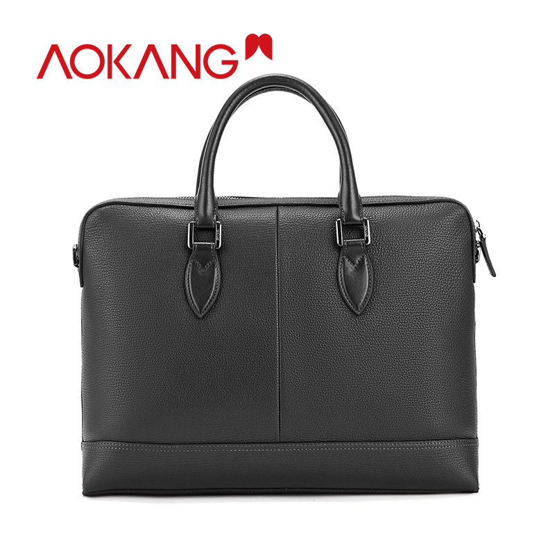 AOKANG 2019 New Arrival Men Briefcase Genuine Leather Black Men's Handbags Male Crossbody Bags Men's High Quality Sacoche Homme