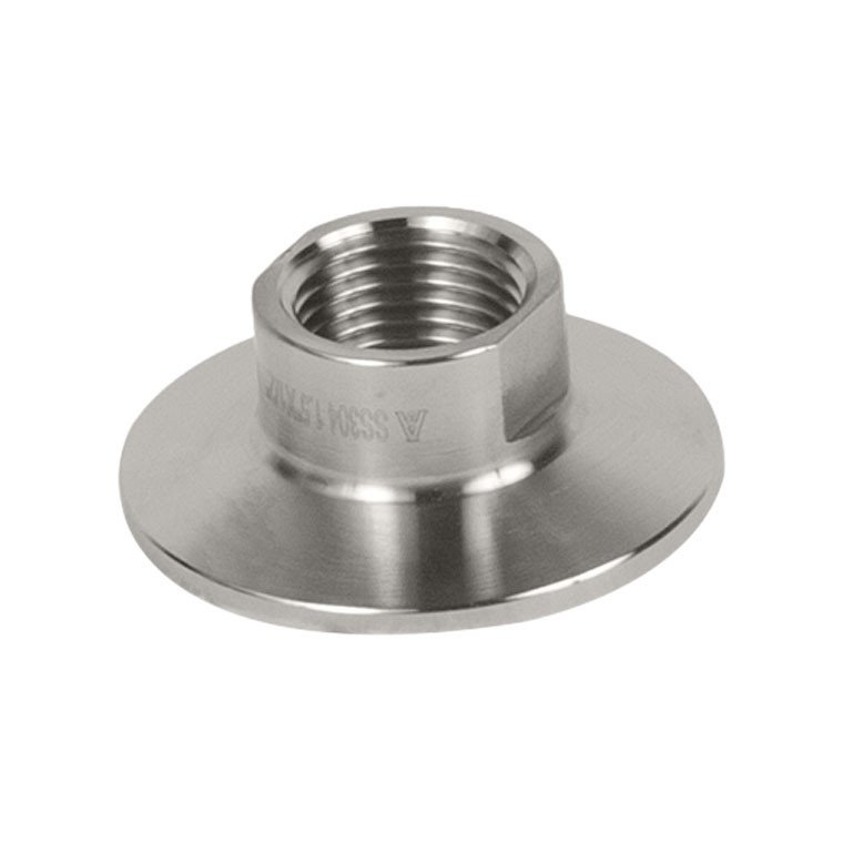 1/4in. FNPT to 1.5in. (50.5mm OD) Tri Clamp Sanitary Female NPT Adapter SS304 Stainless Steel stainless bspp dn32 dn40 female tri clamp sanitary adapter ss304 stainless steel