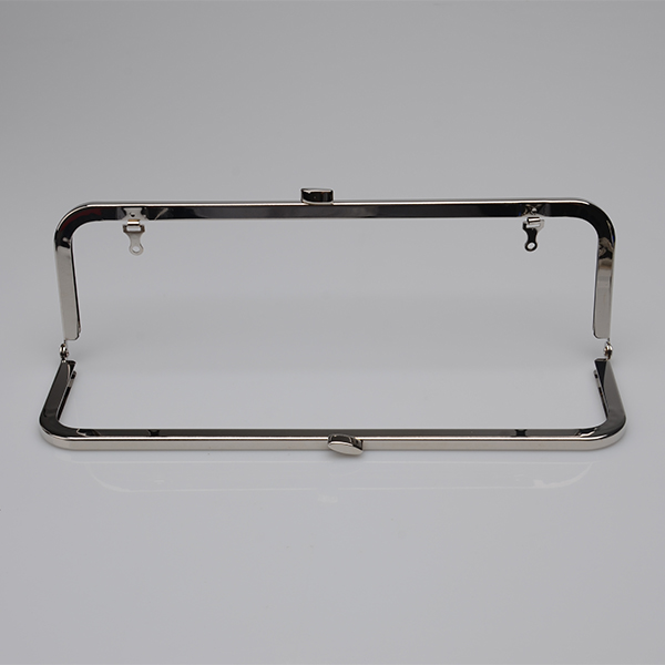 10 x 3 inches Silver Clutch Purse Frame With Loops