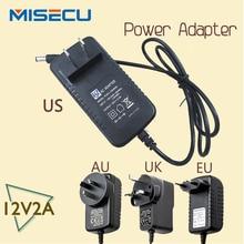 New AC100V-240V / DC12V 2A Output Power Adaptor 50/60HZ, Wall Charger DC 5.5mm x 2.1mm EU/AU/UK/US Plug for CCTV Camera free