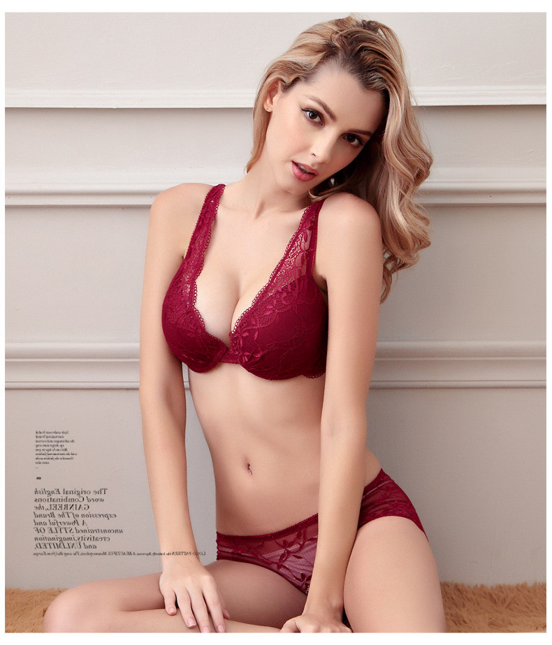 caadc58b246 Sexy Underwear Women Bra Set 2019 New Lingerie Set Luxurious Vintage Lace  Embroidery Push Up Bra And Panty Set