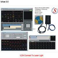 Eshiny iShow תוכנת מופע לייזר & ILDA + RJ45 ממשק USB V3.0 עבור בר דיסקו DJ DMX שלב אור לייזר הצג דומה כמו QUICKSHOW