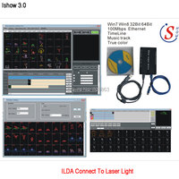 Eshiny iShow V3.0 Laser Show Software ILDA+RJ45 USB Interface For Disco DJ DMX Bar Stage Laser Light similar as QUICKSHOW N9T92