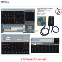 Eshiny iShow ILDA Laser Show Software V3.0 + RJ45 USB Interfaz Para Barra de Luz Laser de la Etapa del disco de Dj DMX Mostrar similar como QUICKSHOW