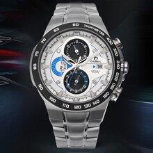 Fashion Men Sports Quartz Watch Luminous Waterproof 100m Wirst Watches Multi-function Dial Calendar Clock Men's Watches CASIMA