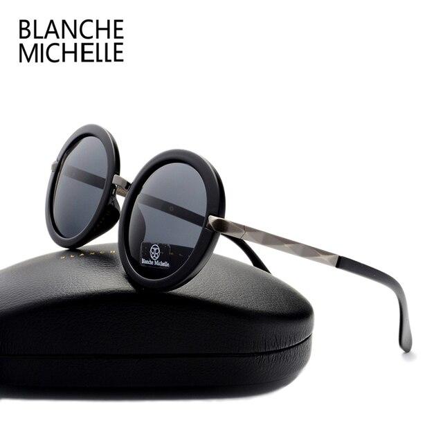 2016 ретро мода Большой круглый солнцезащитные очки женщины марка дизайнер Роскошные поляризованный uv400 высокого качества солнцезащитные очки мужчины зеркало с коробкой