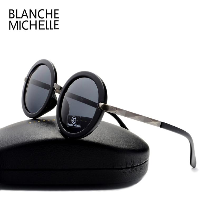 5ecc5c593c 2016 retro fashion Big round sunglasses women brand designer Luxury  polarized uv400 high quality sun glasses men mirror with box-in Sunglasses  from Women's ...