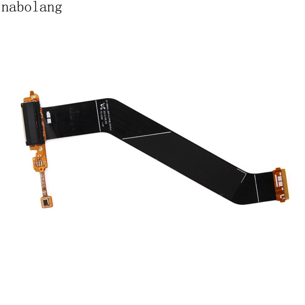 Nabolang New USB Charger Dock Connector Charging Port Flex Cable For Samsung Galaxy Note 10.1 N8000 qi wireless charger charging receiver transparent cover