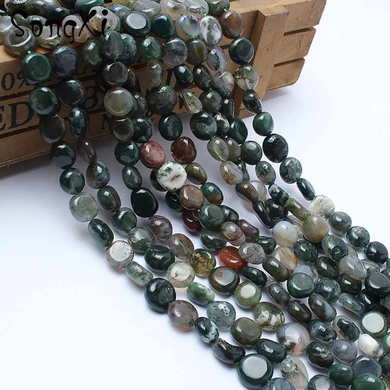 8-10 mét Đá Tự Nhiên Không Thường Xuyên Ấn Độ Mã Não Onyx Loose Beads đối với Trang Sức Làm Bead TỰ LÀM Vòng Đeo Tay Đồ Trang Sức Vòng Cổ 15''