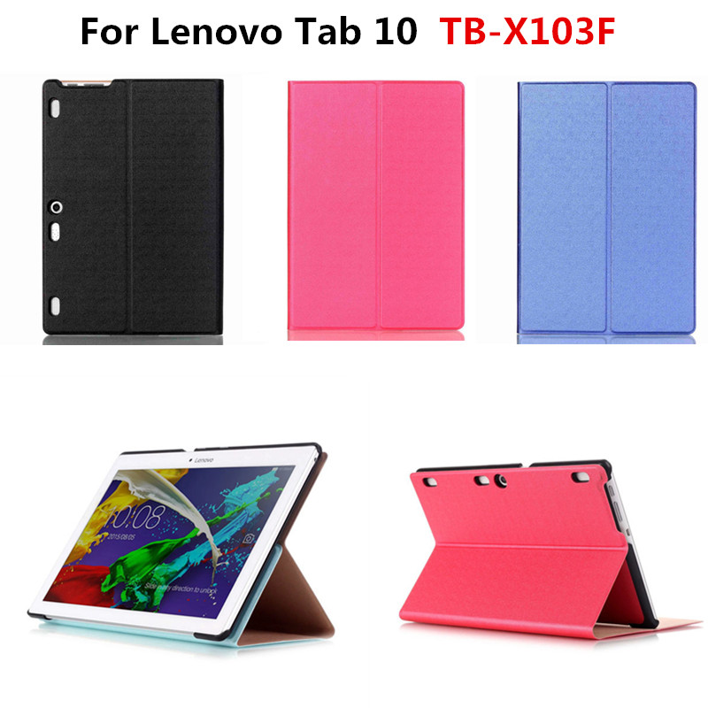 Luxury PU Leather Multi angle Fashion Cases cover Stand case For Lenovo Tab 10 TB-X103F X103F 10.1''  Tablet PC funda new arrival pu leather slim cover stand case for lenovo tab 10 tb x103f x103f 10 1 tablet pc funda with magnetic cases