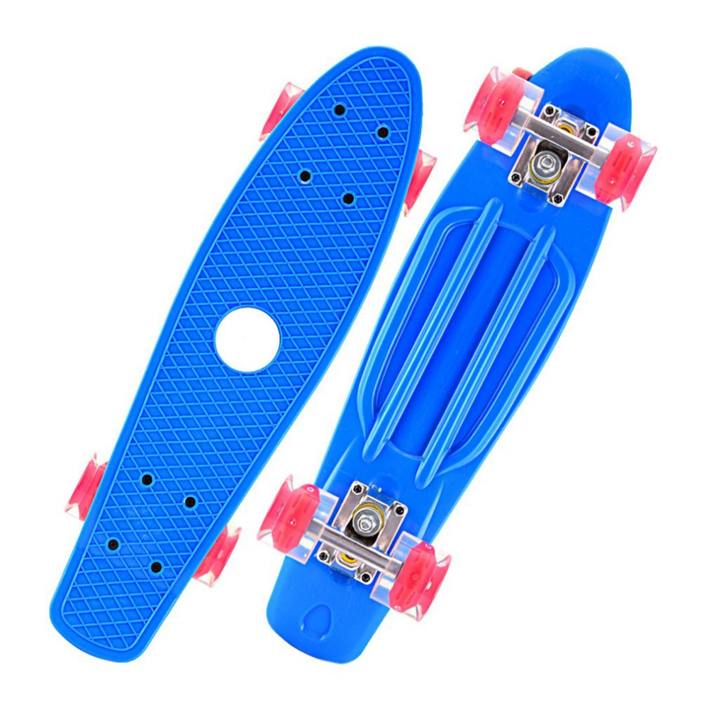 Mini Portable Plastic Skate Board Four Wheels Fish Skateboard Scooter Cruiser Brush Street Board For Kids Adults