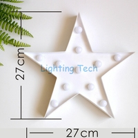 1 X 11LEDs Warm White Romantic Star Table Lamp Night Light 2AA Battery Operated Baby Room