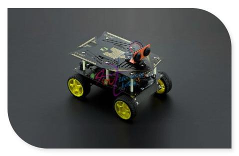DFRobot Cherokey 4WD Basic Robot Kit/Smart car/Mobile Platform, Romeo BLE Controller +Servo/Sensor/Motor Support IOS for Arduino diy smart car light sensor controller black 9 30v
