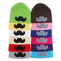 Algodón Unisex Beanie Hat para Cute Baby Boy / Girl Soft Toddler infantil del casquillo del bebé Beanie sombrero barba bigote SW117