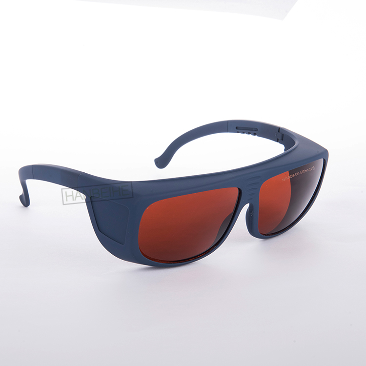 CE EN207 laser safety glasses with O.D 6+ for 190-540nm and 800-1700nm 266 355 405-473nm 532  980 1064 nm 1470nm