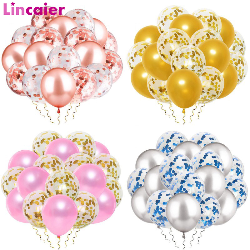 20pcs Mixed Confetti Balloons Graduation 2019 Party Decoration Just Married Babyshower Boy Girl 30th 40th 50th 60th Birthday