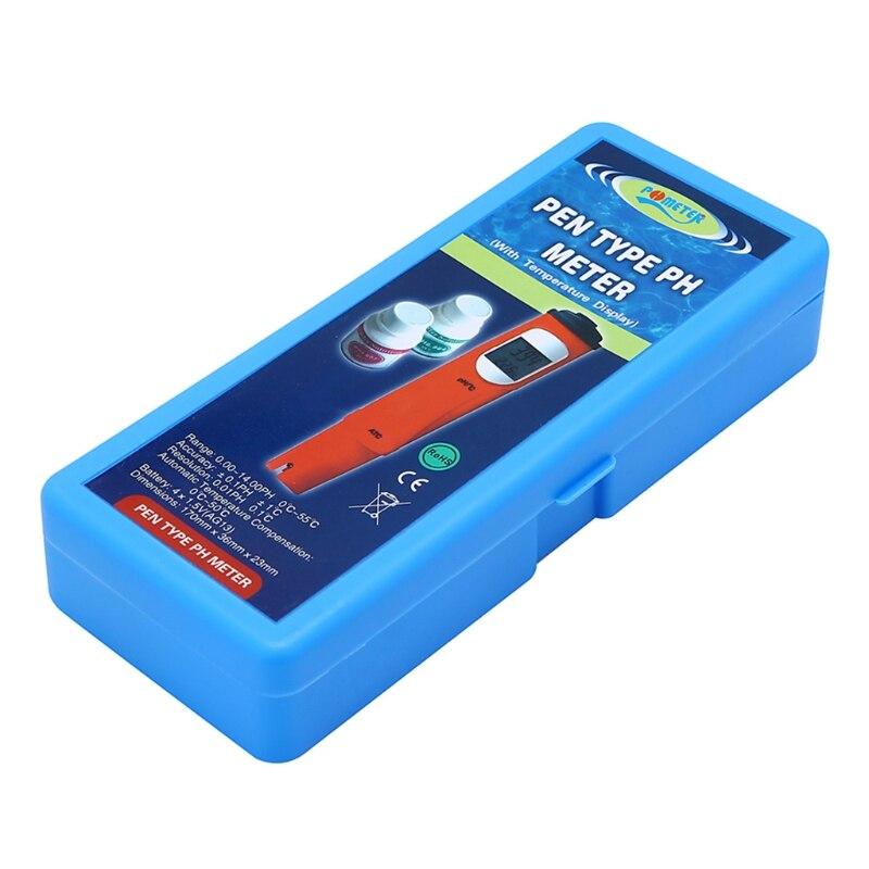 De poche Numérique pH Mètre Testeur D'eau Thermomètre Celsius 0.00-14.00 pH ATC 'lirunzu