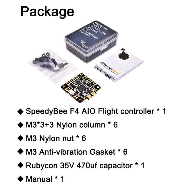 New Upgraded SpeedyBee F4 AIO V2 Flight Controller BLE