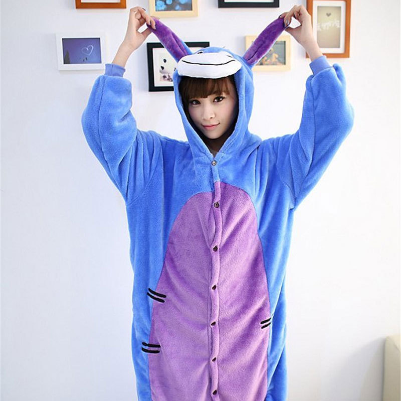 Aliexpress.com : Buy Winter Donkey Eeyore Kawaii Cosplay Footed ...
