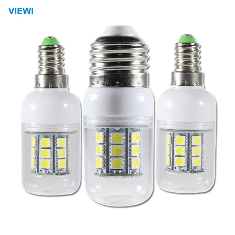 5X 24 volt led bulbs 12v E14 E27 G9 5w corn lamp smd 5050 27leds high bright 360 degree 12 v bombilla clear cover bulb lighting