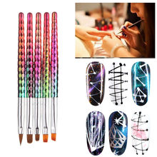 New Arrival Nail Art Brushes for manicure Comb Beehive Stick Phototherapy Pen Carving Brush Nail Decorations pinceaux peinture(China)