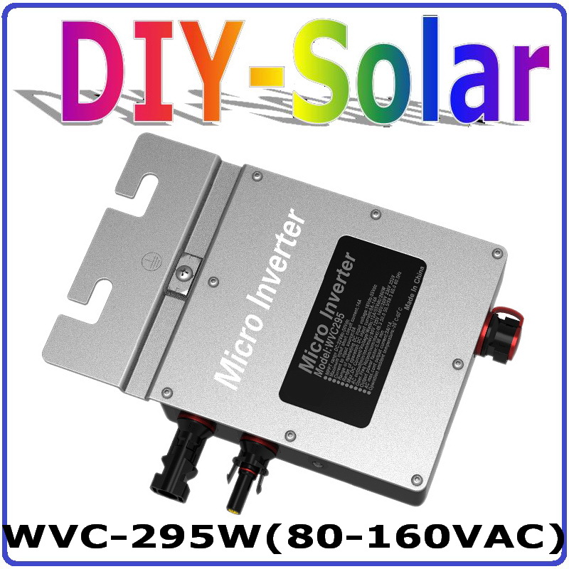 295W 22-50VDC Grid Tie Micro Inverter with 6-grade MPPT Function for 300W 36V Home Use Solar Power System,AC 80-160V or 180-260V solar micro inverters ip65 waterproof dc22 50v input to ac output 80 160v 180 260v 300w