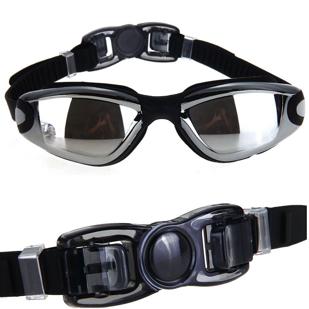 Prix pour Noir adultes anti-buée étanche uv protection lunettes lunettes de natation + bouchons d'oreilles nageur new avec la boîte sport silicone