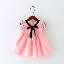 2018 new baby summer print dress birthday party princess tutu girls clothes for infant clothing cute