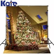 christmas photo backdrops The Christmas tree gift table 5x7ft(1.5×2.2m) fundos de estudio de fotografia ZJ