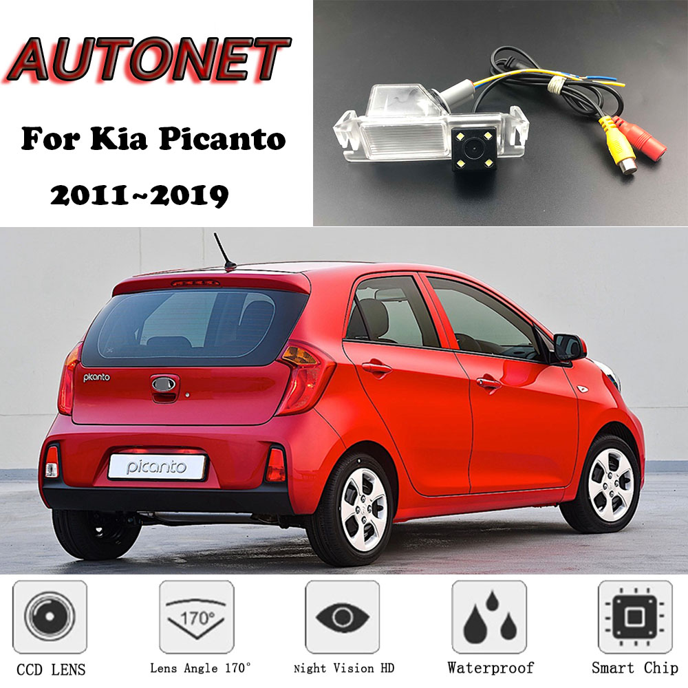 AUTONET Backup Rear View Camera For Kia Picanto 2011 2012 2013 2014 2015 2016 2017 2018 2019 Night Vision License Plate Camera