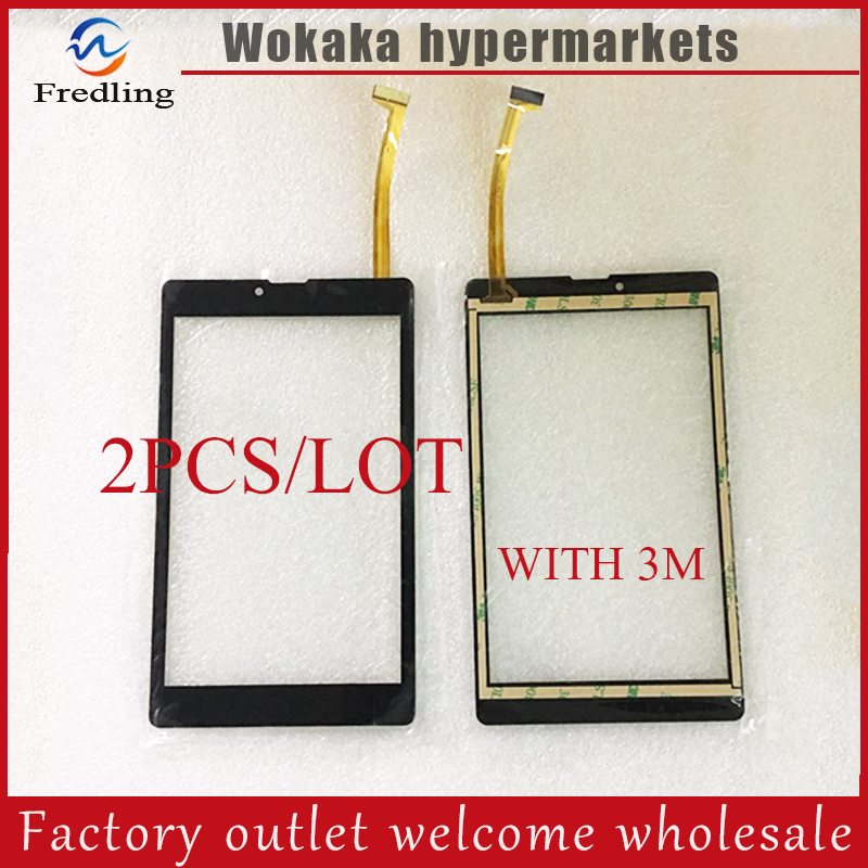 2PCS/LOT New Touch Screen For 7'' inch IRBIS TZ791 Tablet PC Touch panel digitizer sensor replacement parts Free Shipping 8 inch touch screen for prestigio multipad wize 3408 4g panel digitizer multipad wize 3408 4g sensor replacement