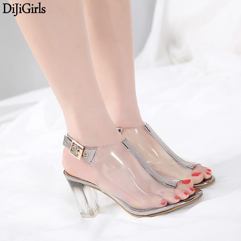 Sandale Femme Ete 2018 Womens Shoes Summer Transparent PVC