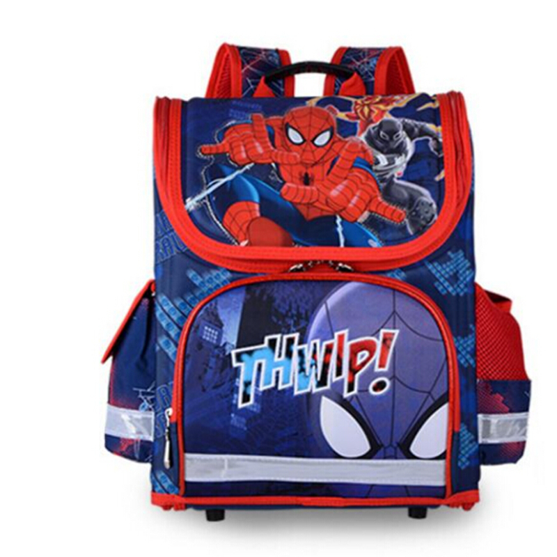 Brand Schoolbag Kids SpiderMan Schoolbag Backpack EVA Folded Orthopedic Children School Bags For Boys girls Mochila Infantil