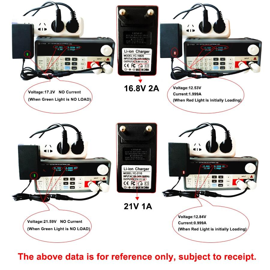 16,8 V 2A 21V 1A 12,6 V 1.5A 8,4 V 2A 18650 литиевая батарея зарядное устройство DC 5,5 MM* 2,1 MM 110-220V литий-ионная батарея зарядное устройство