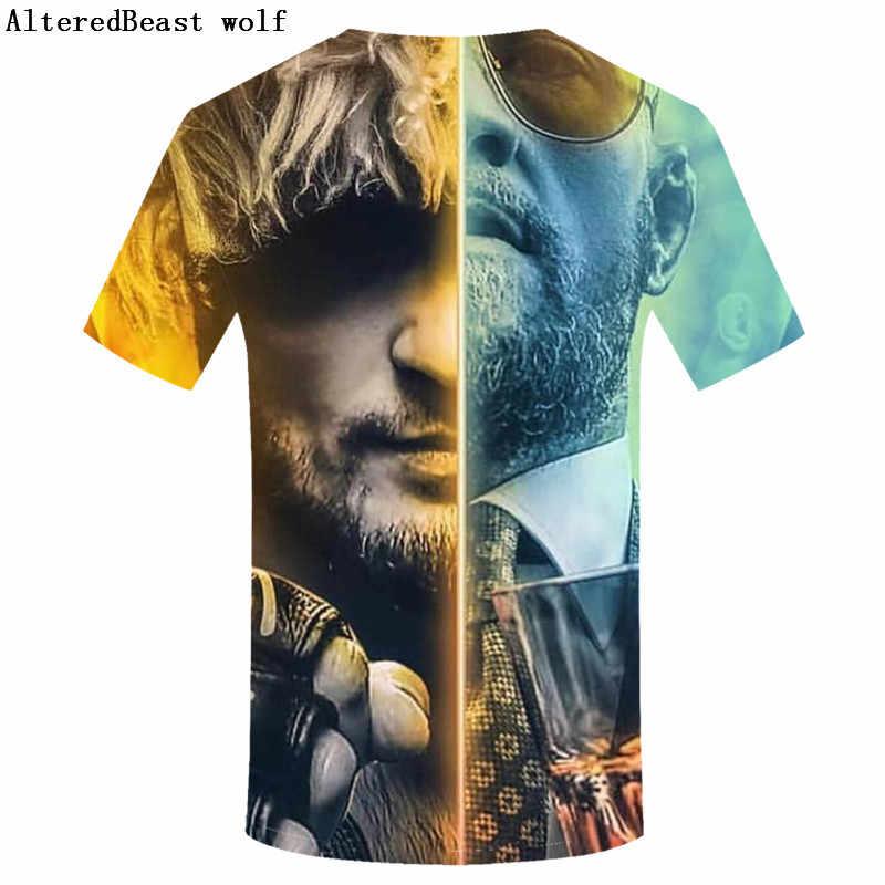 8ec04079d ... Men's Funny Tees UFC T-shirt Khabib Nurmagomedov Russian Mixed Martial  Artist Fighting A Bear ...