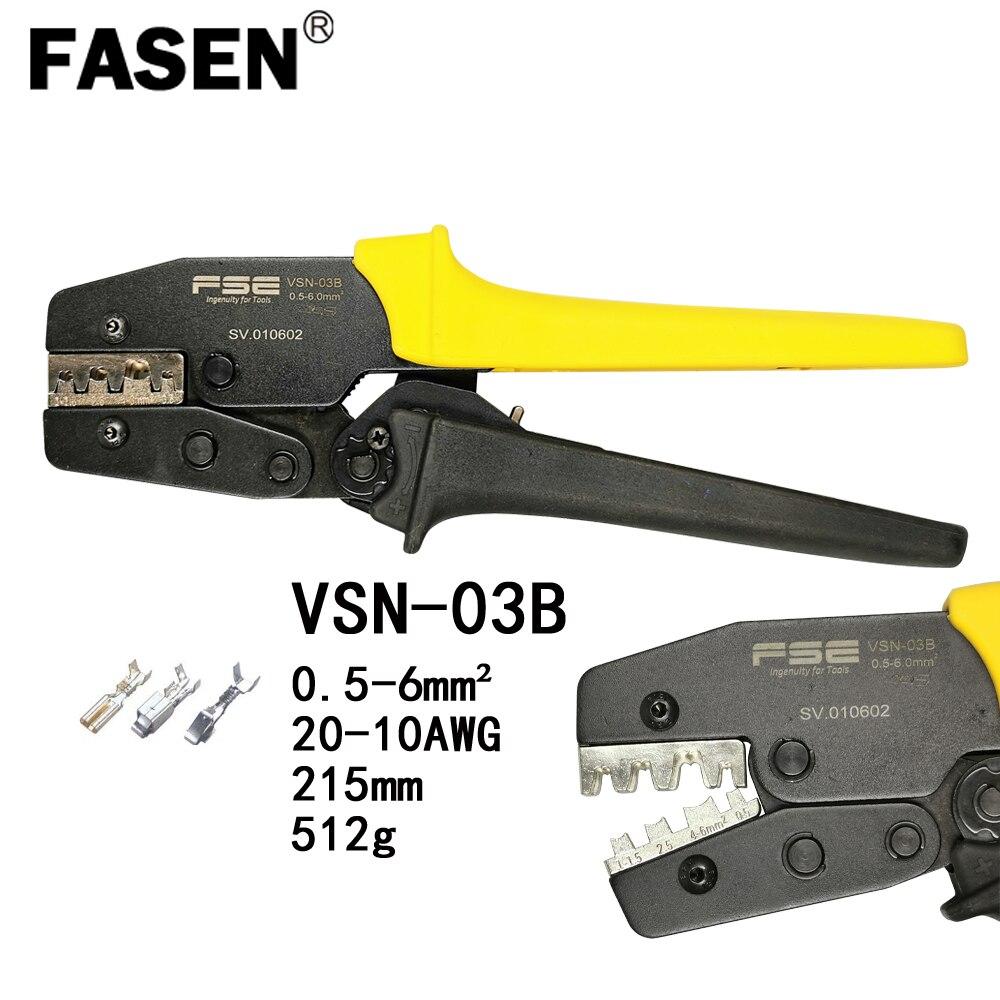 Onglets et récipients Non isolés outils de sertissage pinces électriques pince de marque de haute précision VSN-03B 0.5-6mm2 20-10AWG