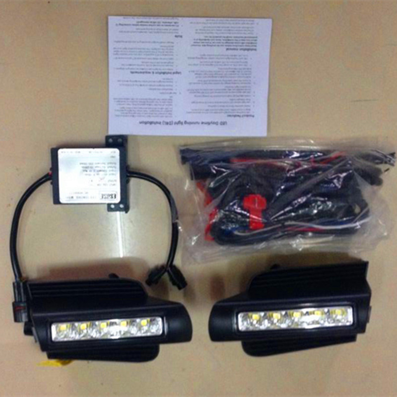 luckeasy car drl for Toyota Prado 120 cruiser LC120 GRJ120 2003~2009 LED DRL Daytime driving Running Light newest led daytime running light for toyota prado 120 lc120 grj120 2003 2009 fog lamp drl bumper light accessories parts