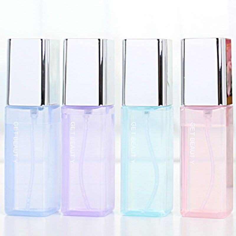 50ml Rectangle Shape Refill Empty Transparent Perfume Travel Spray Bottle Jar Cosmetic Mist Atomizer Fragrance Sample Container