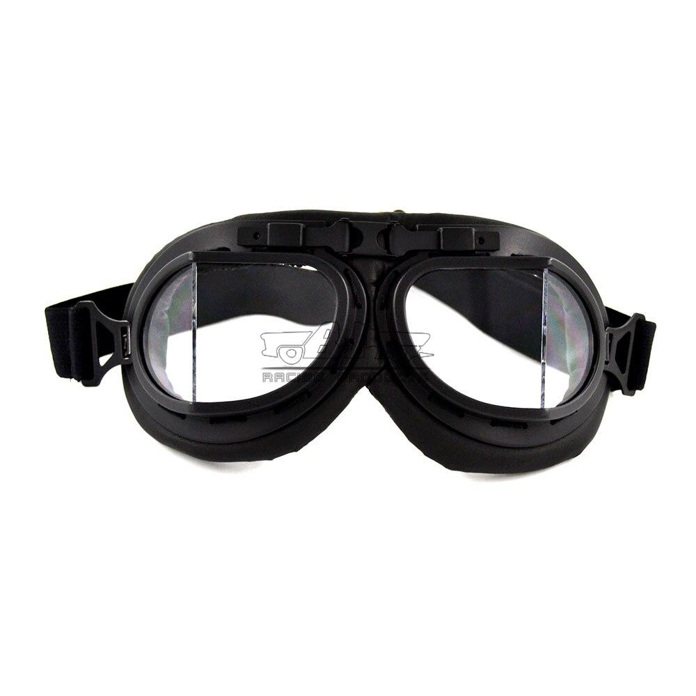 6df71bd7d3db Bjmoto Vintage Moto Lunettes pour Harley Motocross moto aviator lunettes  Pilote Cruiser lunettes lunettes