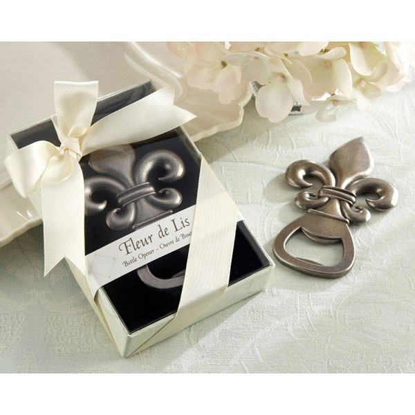 wedding favor gift and giveaways for man guest -- Fleure De Lis Wine Opener wedding bridal shower favor souvenir 1 piece image