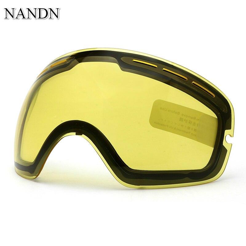 Prix pour NANDN Nuit Et Jour Vision Double Couche Anti-Buée Ski lunettes Lentille Lentilles Interchangeables NG3 D'origine BRICOLAGE Ski Goggle Supplémentaire lentille