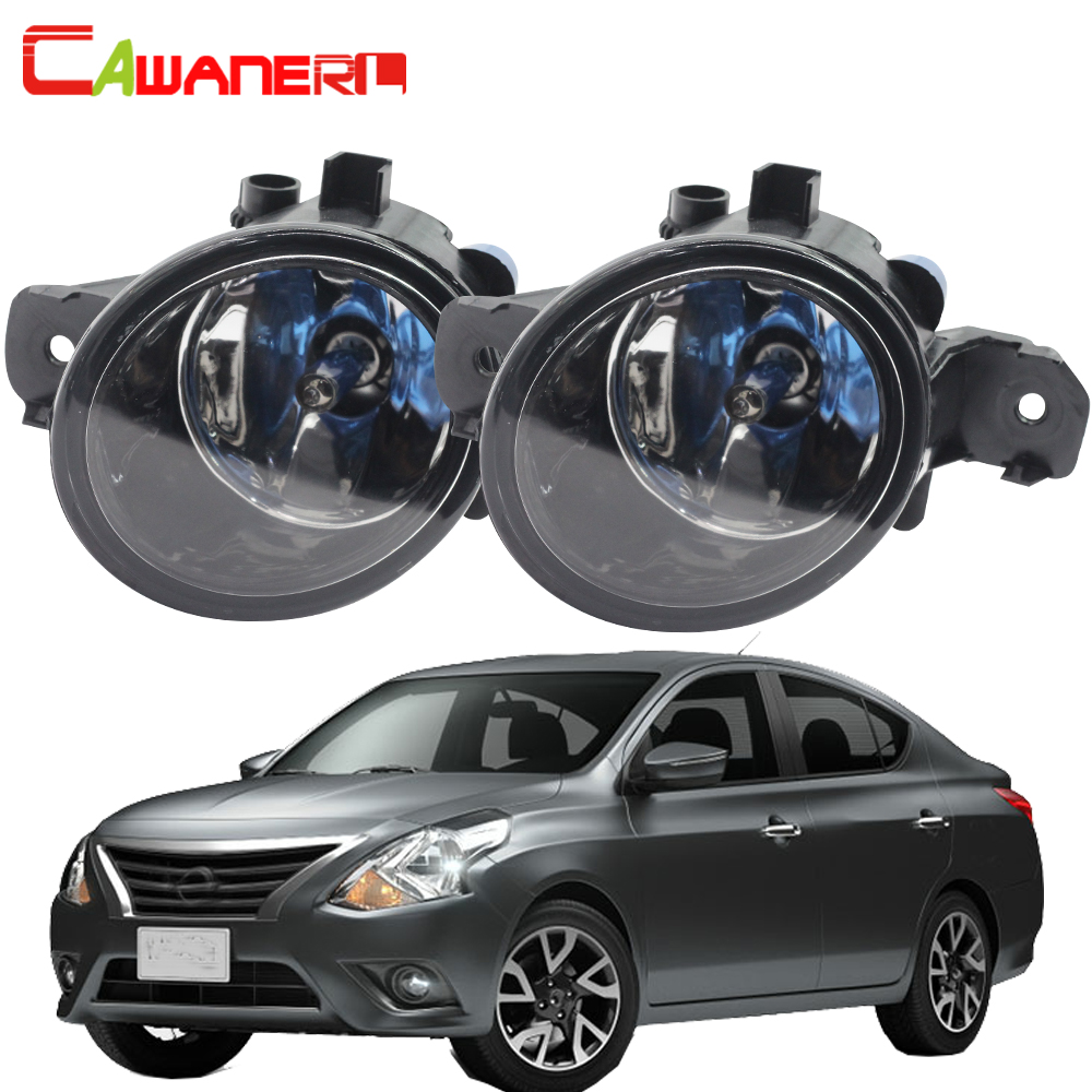 Cawanerl 2 Pieces 100W H11 Car Halogen Fog Light DRL Daytime Running Lamp 12V Styling Super Bright For Nissan Versa 2012-2015 cawanerl 2 pieces car styling left right fog light led drl daytime running lamp white 12v for toyota camry 2006 2012