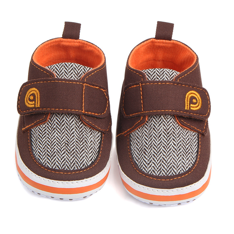 Super Quality 1pair spring Baby Crib shoes First Walkers+3-12Month,antiskid kids boy Soft Sole, non-slip Infant/Toddler footwear