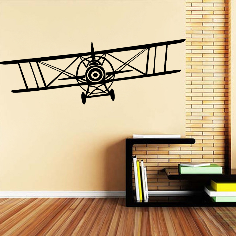 Biplane Wall Decal Vinyl Decal Planes Sticker Jumbo Jet Vinyl Wall ...
