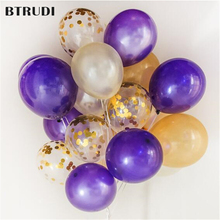 12 inches of confetti balloons 50pcs /lot purple gold latex  holiday parties wedding room decorations