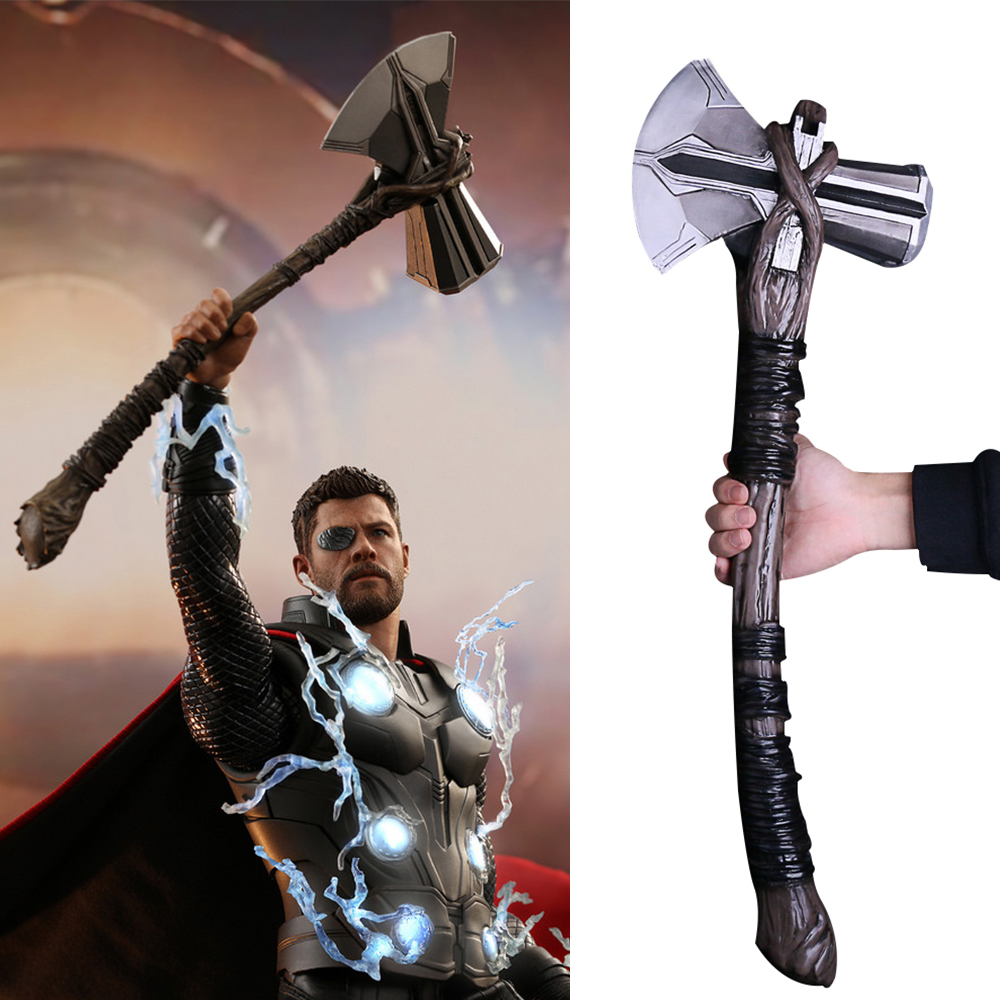 2018 Avengers 3 Infinity War Thor Stormbreaker Axe Cosplay Thor New Handmade Axe (9)