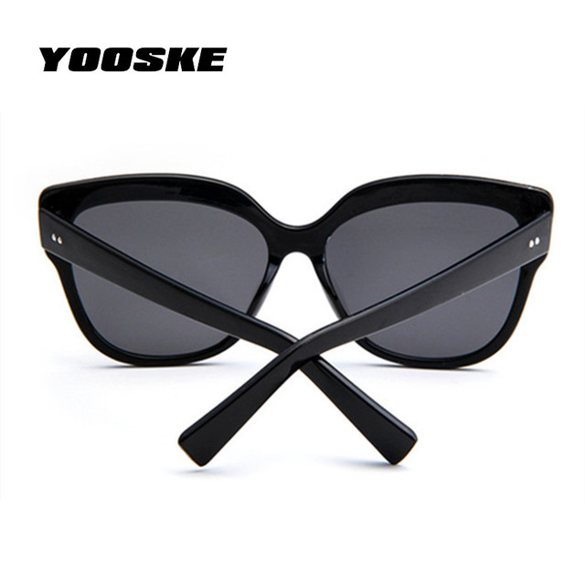 YOOSKE Cat Eye Sunglasses Women Brand Designer Eyebrows Mirror Sun Glasses Female Butterfly Eyeglasses Vintage Eyewear UV400
