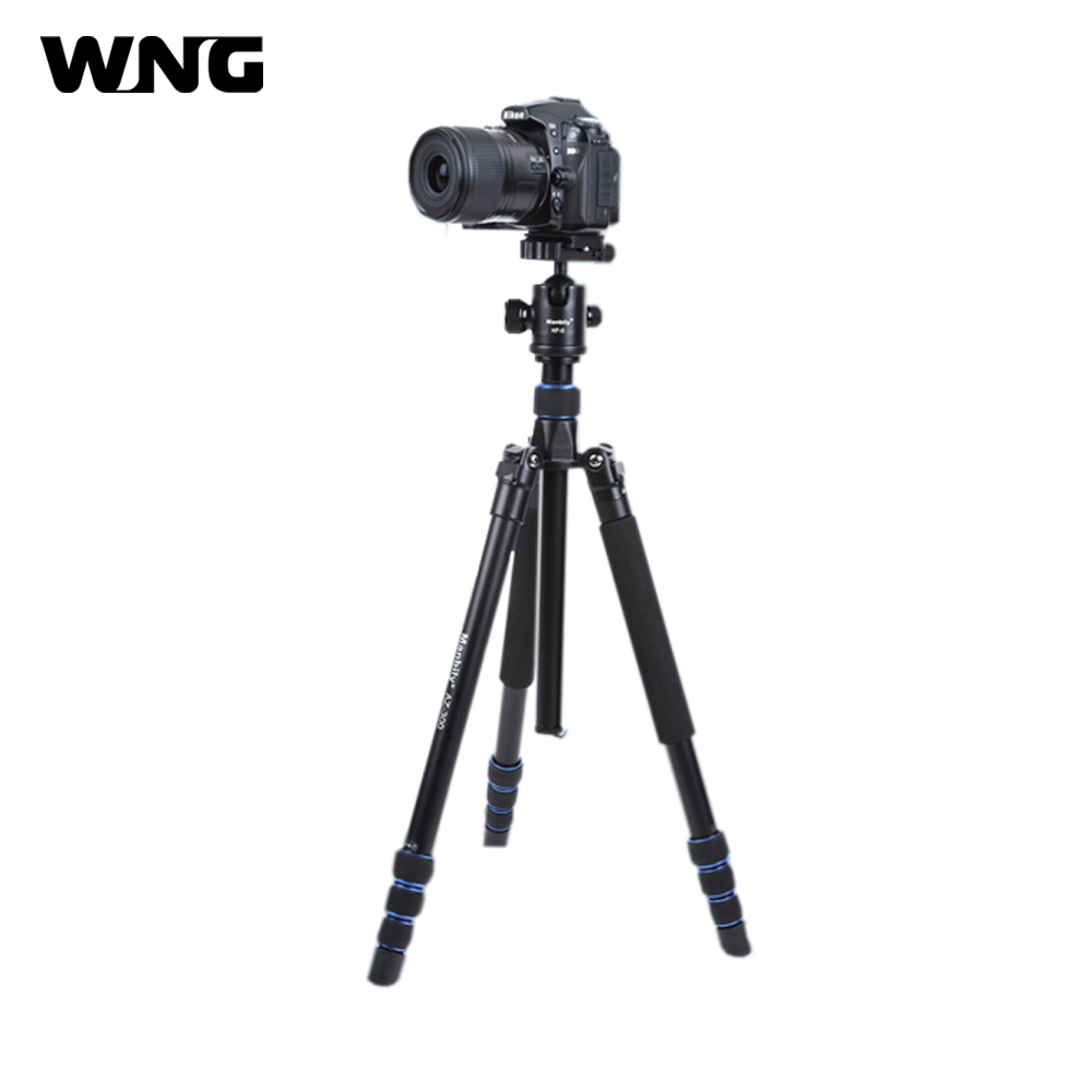 4 Sections Professional Camera Tripod Aluminum Stand Portable Photographic Monopod with 360 Degree Ball Head for Photo and Video photography pocket mini tripod 360 degree ball head digital camera adjustable photo stand camera holder