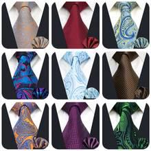 Шелковый мужской галстук с узором пейсли, вечерние галстуки для мужчин, классический свадебный квадратный Карманный галстук